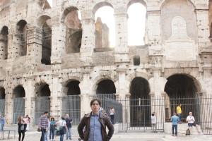 Coliseo romano, parte posterior que está menos preservada