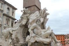 Fuente de los Cuatro Ríos de Bernini en Piazza Navona
