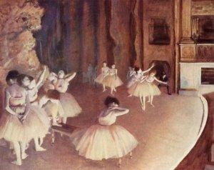 Ensayo de un ballet, Degas, Museo de Orsay, París