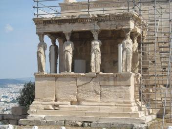 Vista lateral del Erectheion, Acrópolis