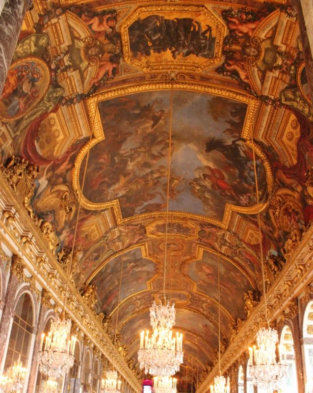 Bóveda de la Galería de los Espejos de Versalles